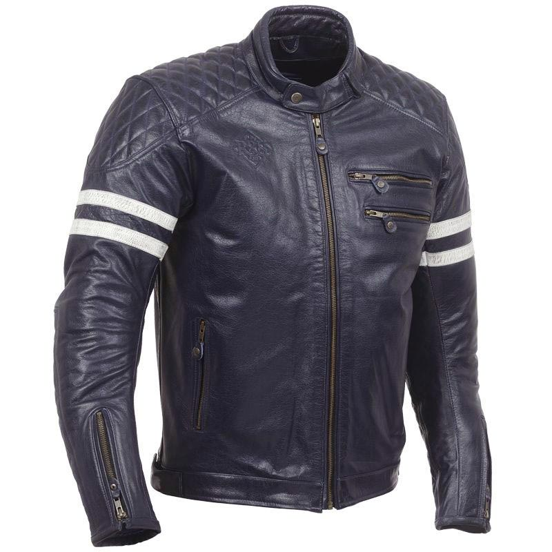 ride and sons magnificent midnight blue blouson moto cuir vintage homme. Black Bedroom Furniture Sets. Home Design Ideas