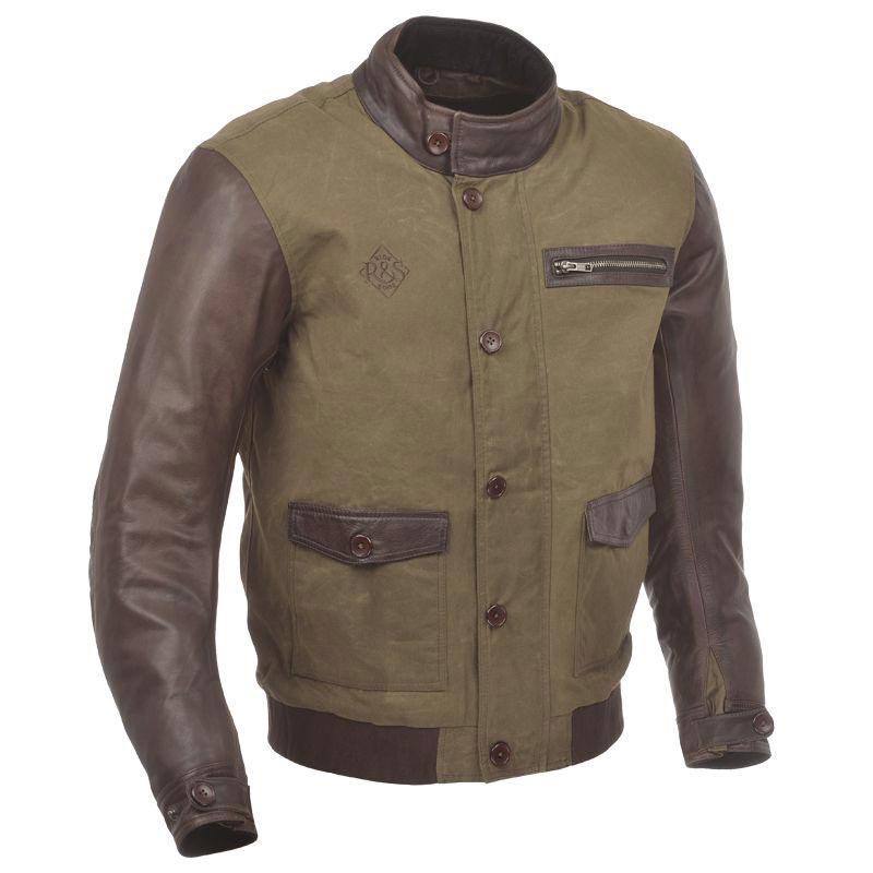 ride and sons varsity brown blouson moto vintage biker. Black Bedroom Furniture Sets. Home Design Ideas