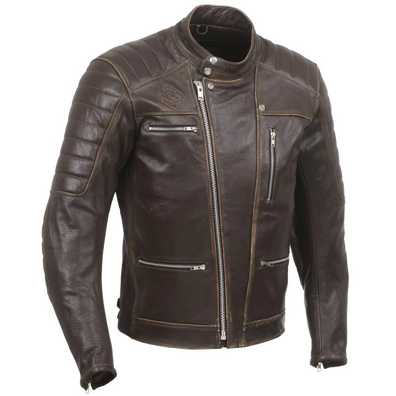 ride and sons empire brown blouson moto cuir vintage biker. Black Bedroom Furniture Sets. Home Design Ideas