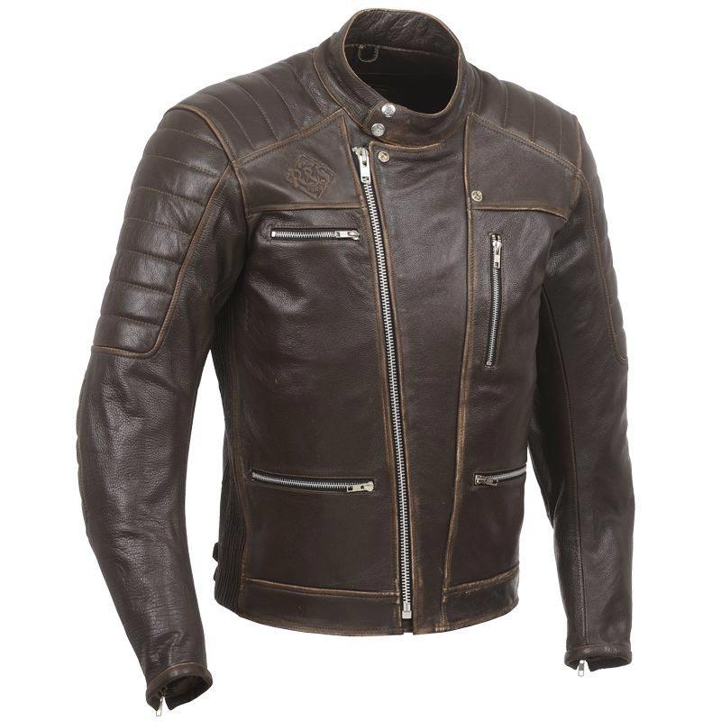 Veste en cuir vintage biker
