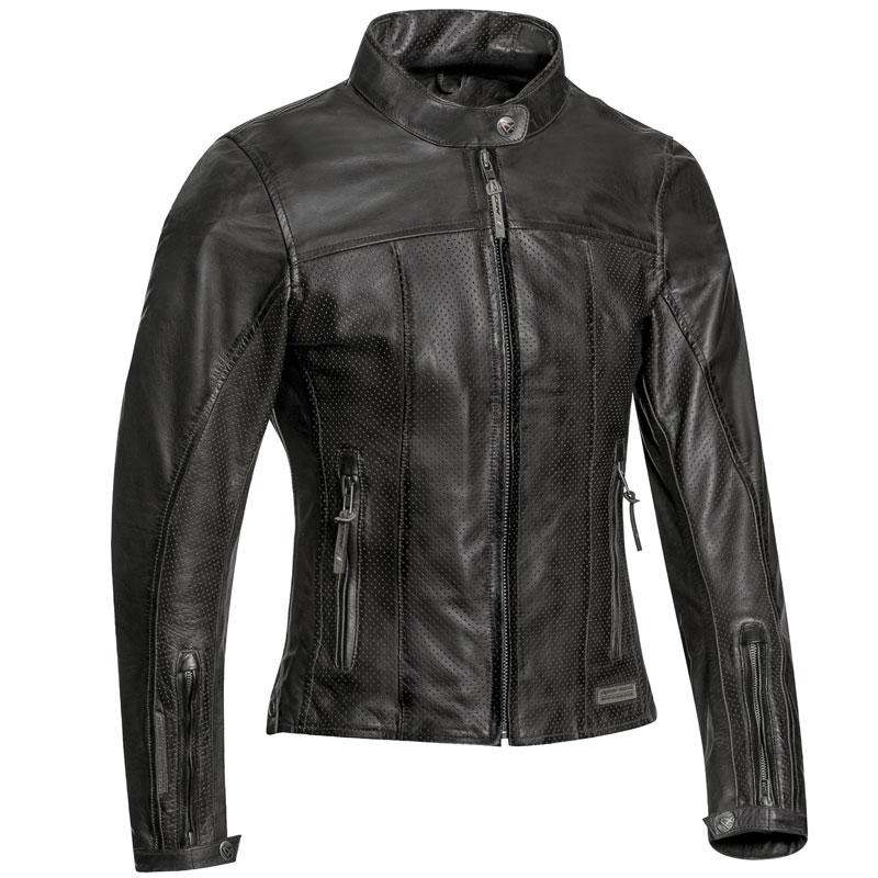 blouson moto femme ixon crank air lady cuir noir t ce. Black Bedroom Furniture Sets. Home Design Ideas