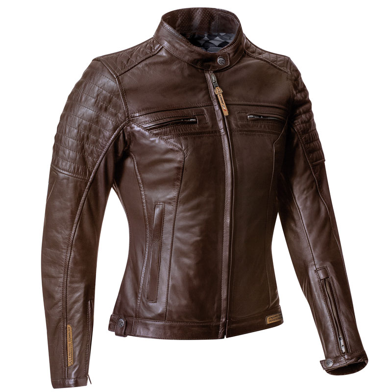 blouson femme ixon torque lady cuir marron moto vintage ce. Black Bedroom Furniture Sets. Home Design Ideas