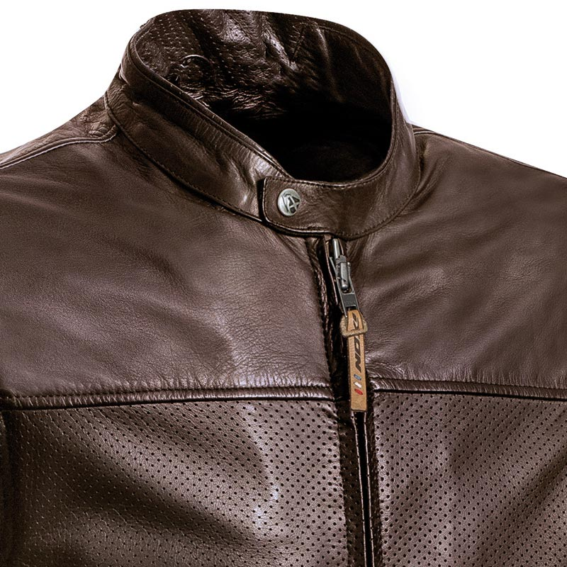 blouson moto t ixon crank air cuir perfor marron vintage ce. Black Bedroom Furniture Sets. Home Design Ideas