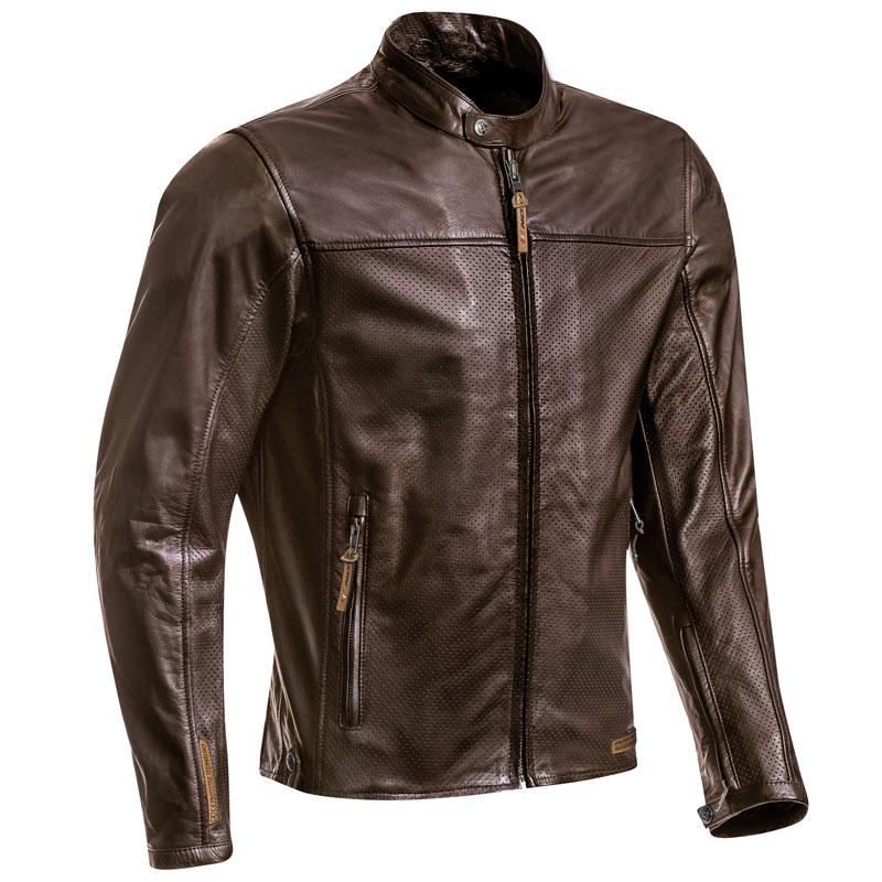 blouson moto t ixon crank air cuir perfor marron vintage ce. Black Bedroom Furniture Sets. Home Design Ideas