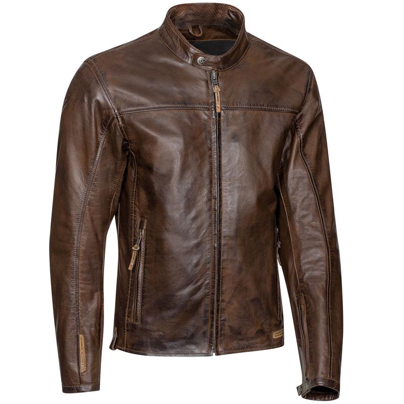 blouson ixon crank cuir marron blouson moto vintage homme ce. Black Bedroom Furniture Sets. Home Design Ideas