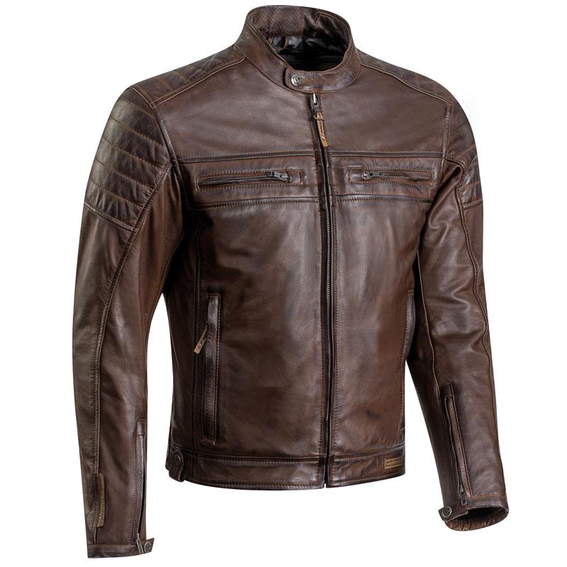 blouson ixon torque cuir marron cuir moto vintage homme ce. Black Bedroom Furniture Sets. Home Design Ideas