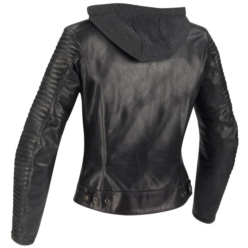 revendeur b3f50 97946 Blouson Segura femme Lady Dorian, cuir moto capuche sweat