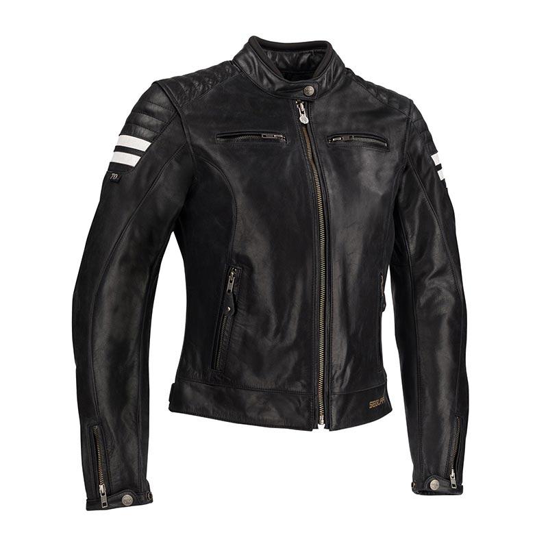 veste moto cuir femme segura lady retro