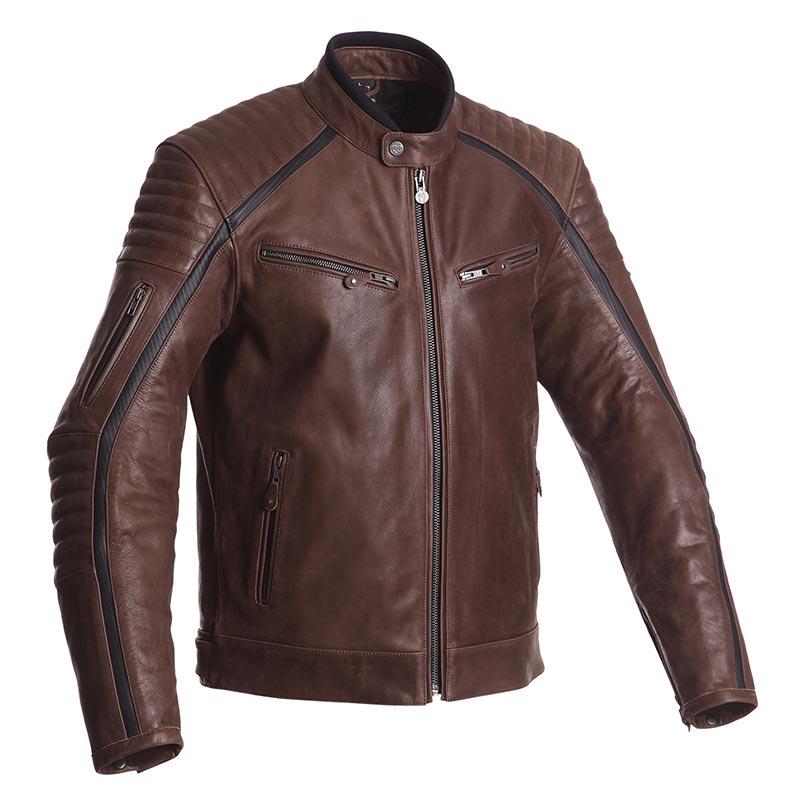 Blouson moto homme Segura horner en cuir marron, veste néo-rétro vintage,  homologuée CE. REF   1SHORN 4fa3ddc3539