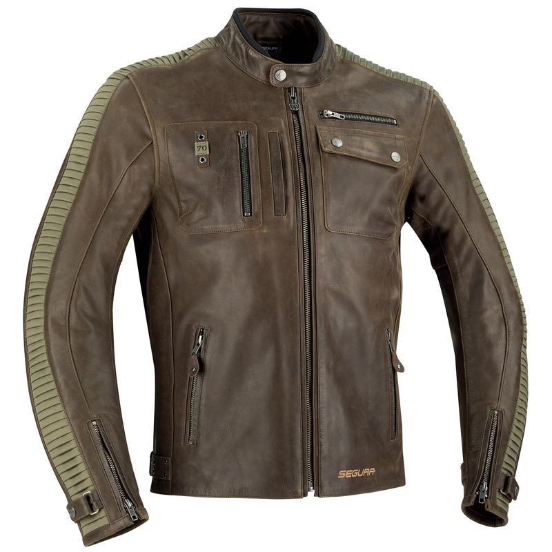 blouson segura jayzer marron blouson moto cuir n o r tro. Black Bedroom Furniture Sets. Home Design Ideas