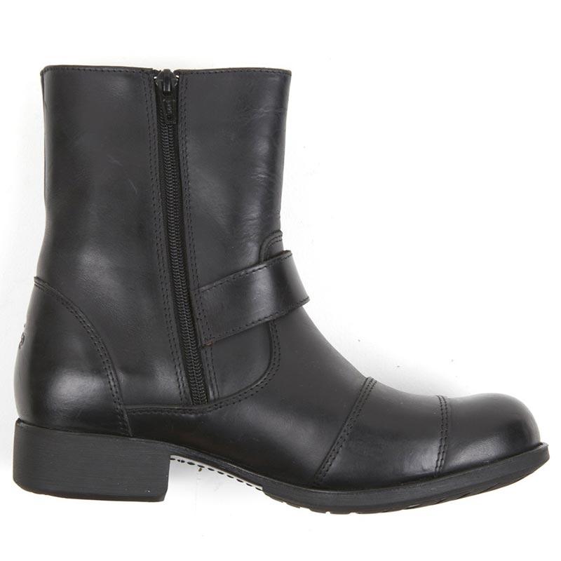 Bottes moto femme Helstons Grace cuir noir, chaussures motardes