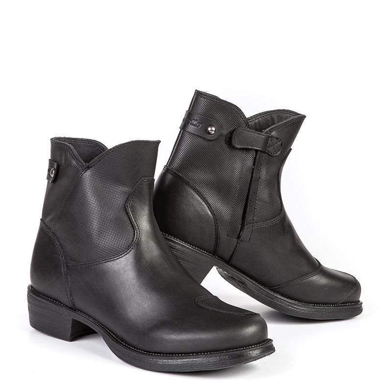 bottes moto femme stylmartin pearl j bottines vintage cuir homologue