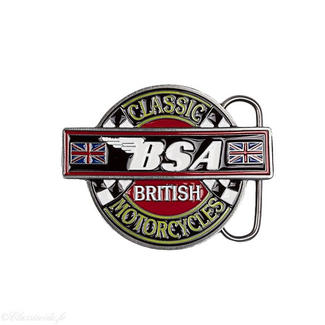 boucle ceinture moto motard biker bsa classic british motorcycle vintage  retro flag england 428d5d1854a