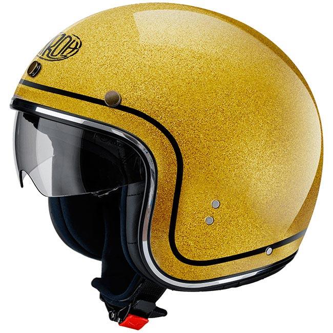 casque airoh riot gold glitter jet moto custom biker vintage. Black Bedroom Furniture Sets. Home Design Ideas