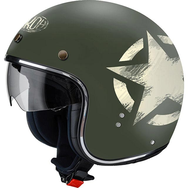 casque airoh riot star green matt jet biker us army. Black Bedroom Furniture Sets. Home Design Ideas