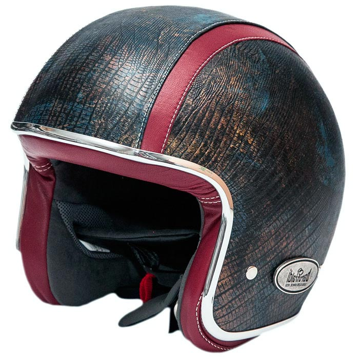 casque baruffaldi zeon ramsete jet cuir moto vintage. Black Bedroom Furniture Sets. Home Design Ideas
