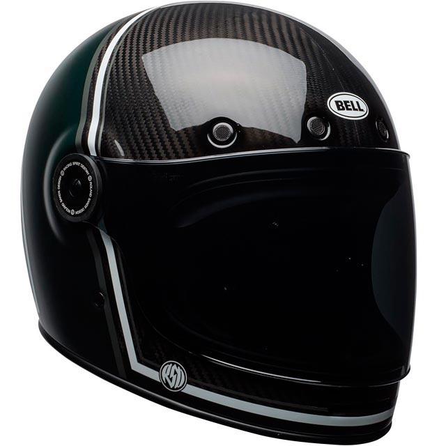 casque moto bell bullitt carbon rsd gloss matte green range. Black Bedroom Furniture Sets. Home Design Ideas