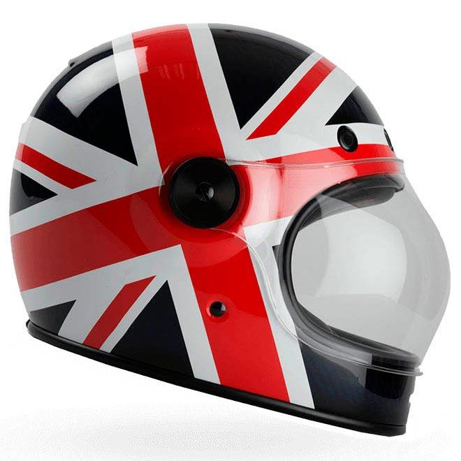 Casque moto en anglais