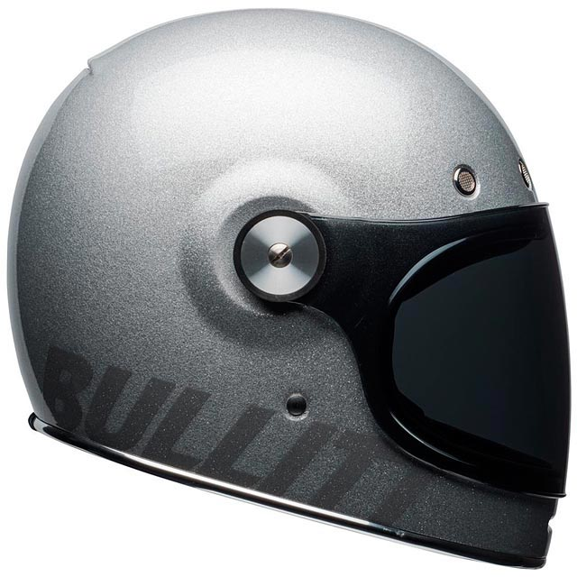 casque bell bullitt gloss silver flake int gral moto vintage. Black Bedroom Furniture Sets. Home Design Ideas