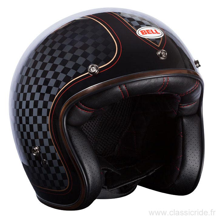 casque jet bell custom 500 roland sands check it moto vintage. Black Bedroom Furniture Sets. Home Design Ideas