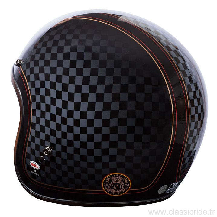 Casque Jet Bell Custom 500 Roland Sands Check It Moto Vintage