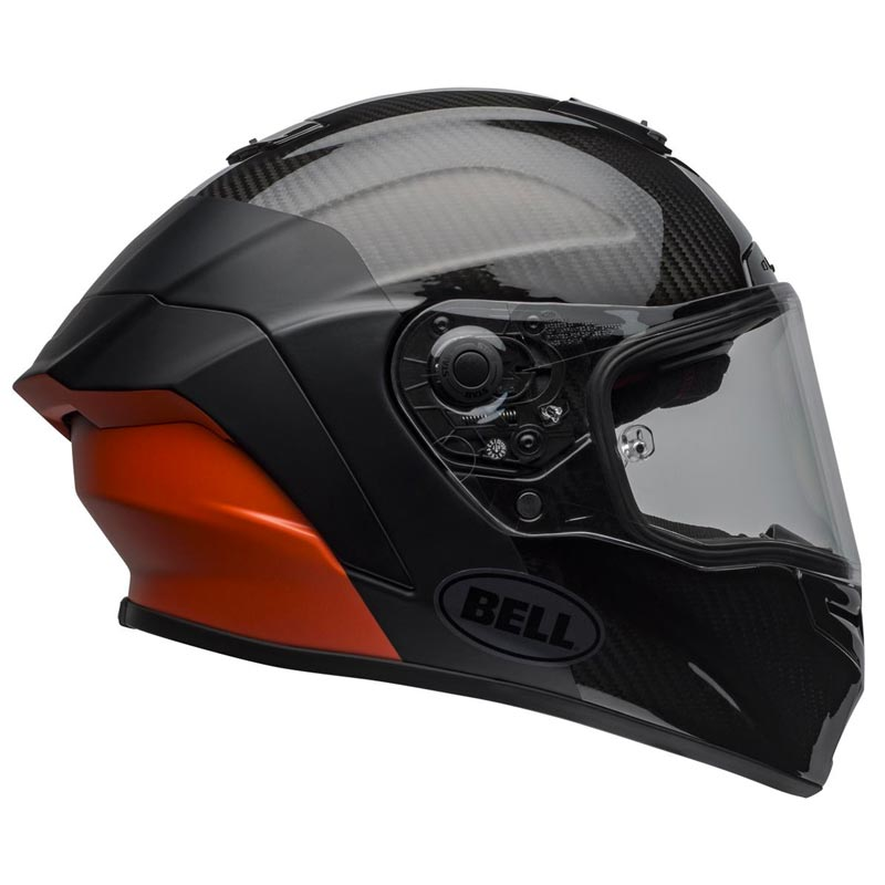 Casque Bell Race Star Carbon Lux Black Orange Intégral Moto