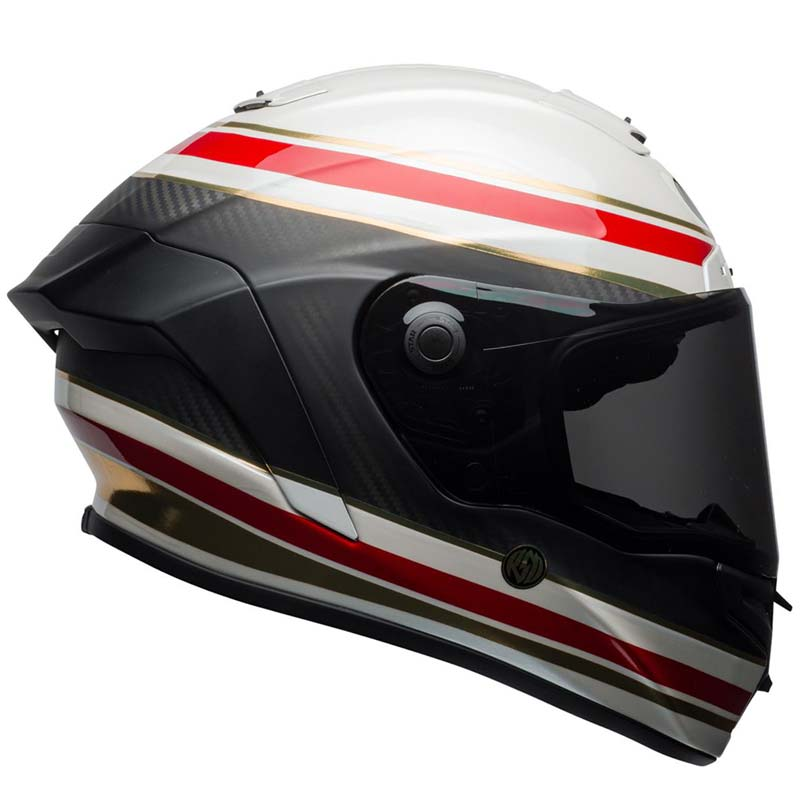 casque bell race star rsd white red carbon formula roland sands. Black Bedroom Furniture Sets. Home Design Ideas