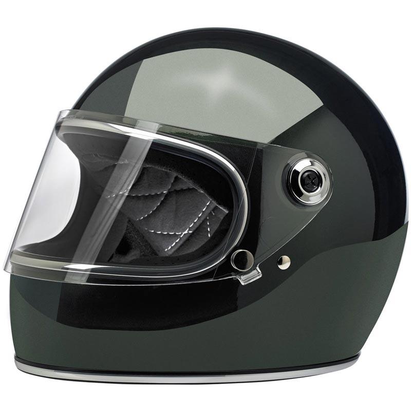 Casque Biltwell Gringo S Ece Gloss Sierra Green Intégral Moto Biker