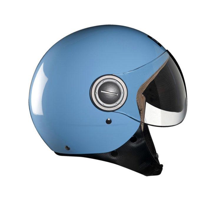casque exklusiv vogue bleu pastel jet scooter moto. Black Bedroom Furniture Sets. Home Design Ideas