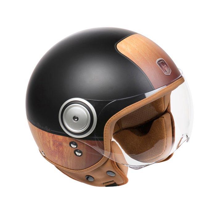 casque exklusiv smart woody casque jet scooter moto. Black Bedroom Furniture Sets. Home Design Ideas