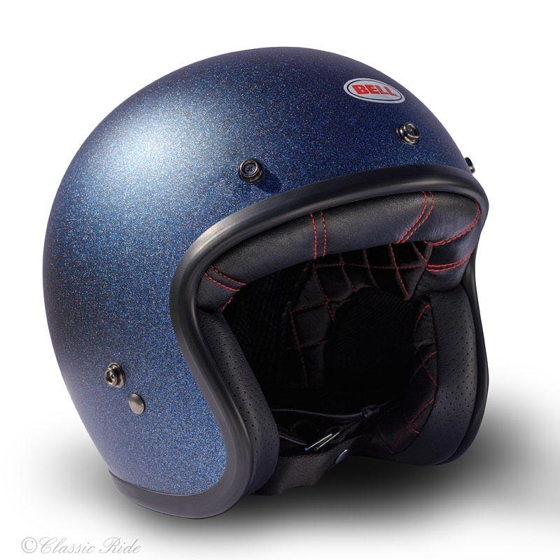 bell custom 500 blue flake casque moto jet vintage paillettes. Black Bedroom Furniture Sets. Home Design Ideas