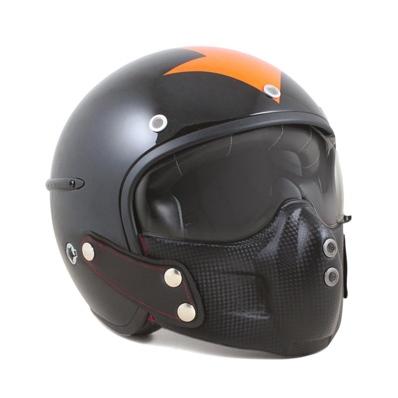casque moto jet harisson corsair harrow noir orange biker harley davidson. Black Bedroom Furniture Sets. Home Design Ideas