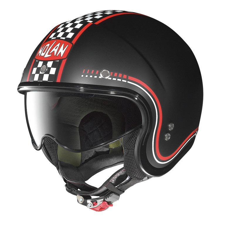 casque moto nolan n21 lario flat black jet cafe racer. Black Bedroom Furniture Sets. Home Design Ideas