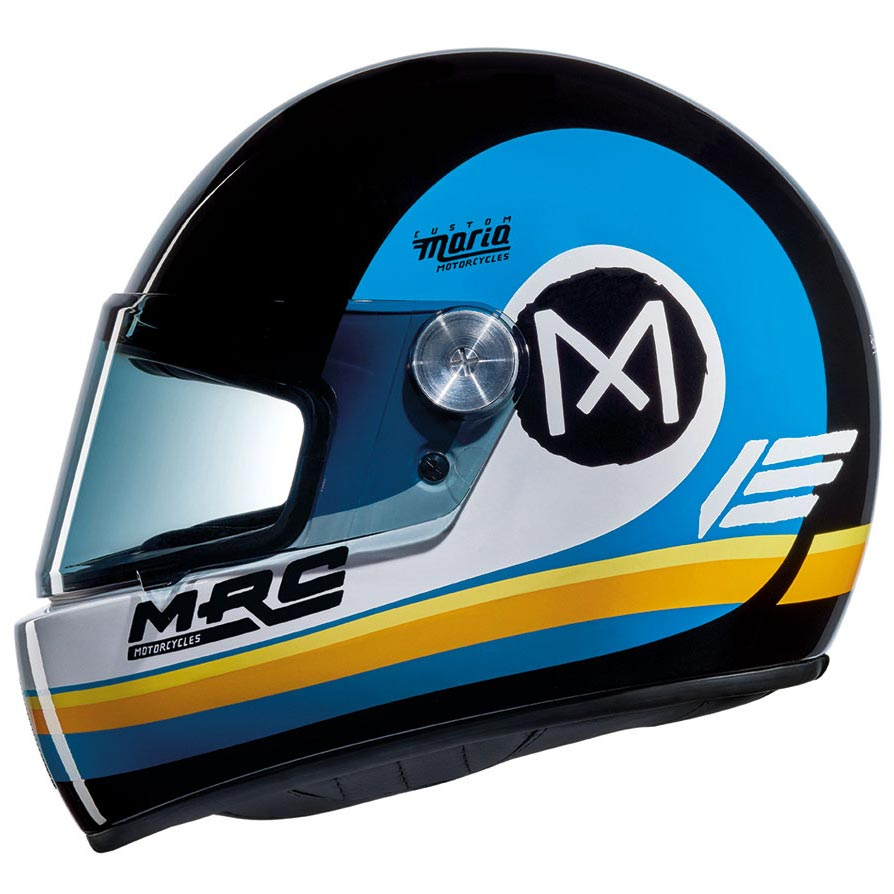 Casque nexx xg100 racer r jupiter black white blue xg100r maria mrc
