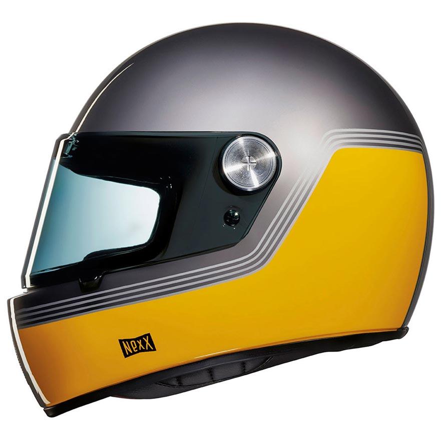 Nexx Xg100 Racer Motordrome Titanium Yellow Casque Moto Xg100r Gris