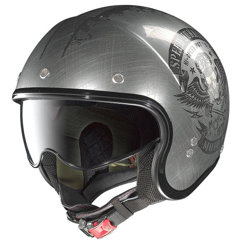 casque nolan n21 speed junkies scratched chrome jet biker. Black Bedroom Furniture Sets. Home Design Ideas