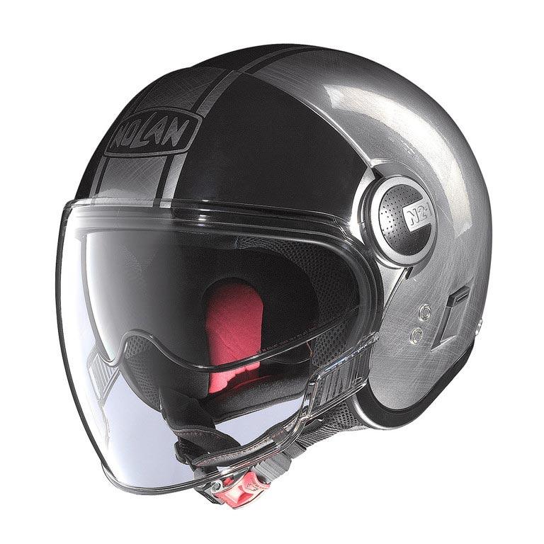 casque nolan n21 visor duetto scratched chrome jet moto vintage. Black Bedroom Furniture Sets. Home Design Ideas