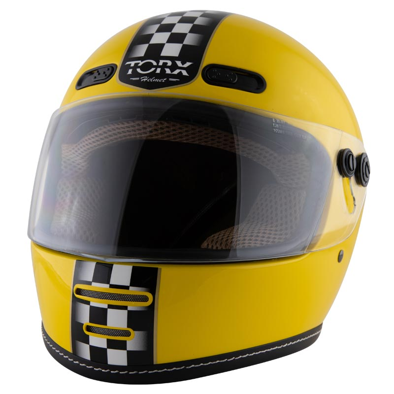 casque torx barry legend racer yellow shiny casque int gral vintage. Black Bedroom Furniture Sets. Home Design Ideas