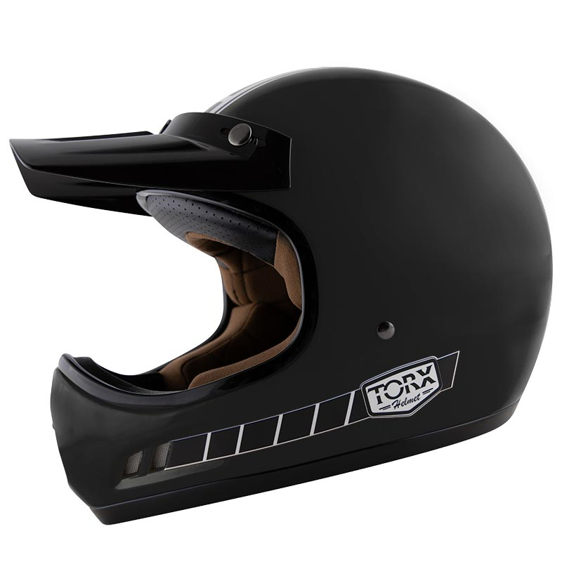 casque torx brad legend racer black mat casque cross vintage. Black Bedroom Furniture Sets. Home Design Ideas
