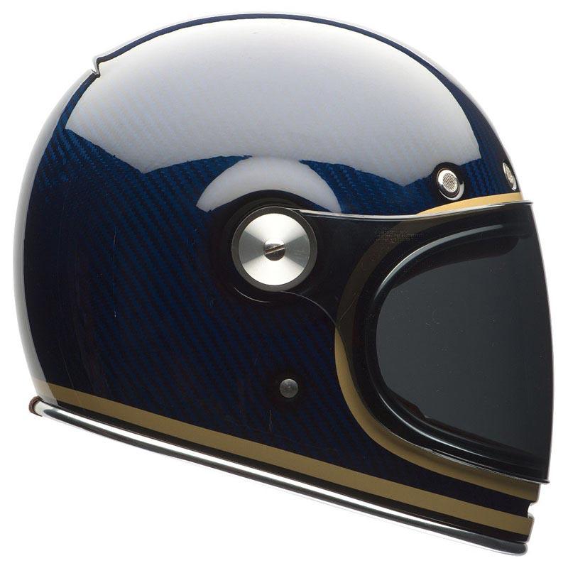 bell bullitt carbon candy blue casque moto int gral vintage. Black Bedroom Furniture Sets. Home Design Ideas