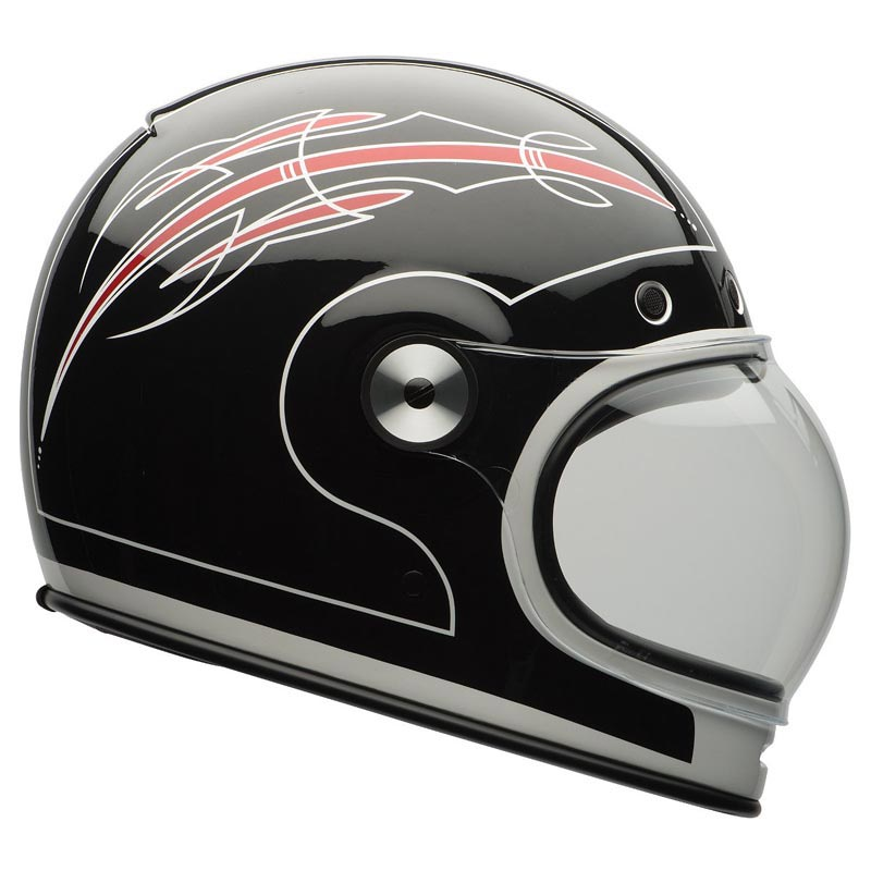 bell bullitt skratch black red casque moto int gral vintage. Black Bedroom Furniture Sets. Home Design Ideas