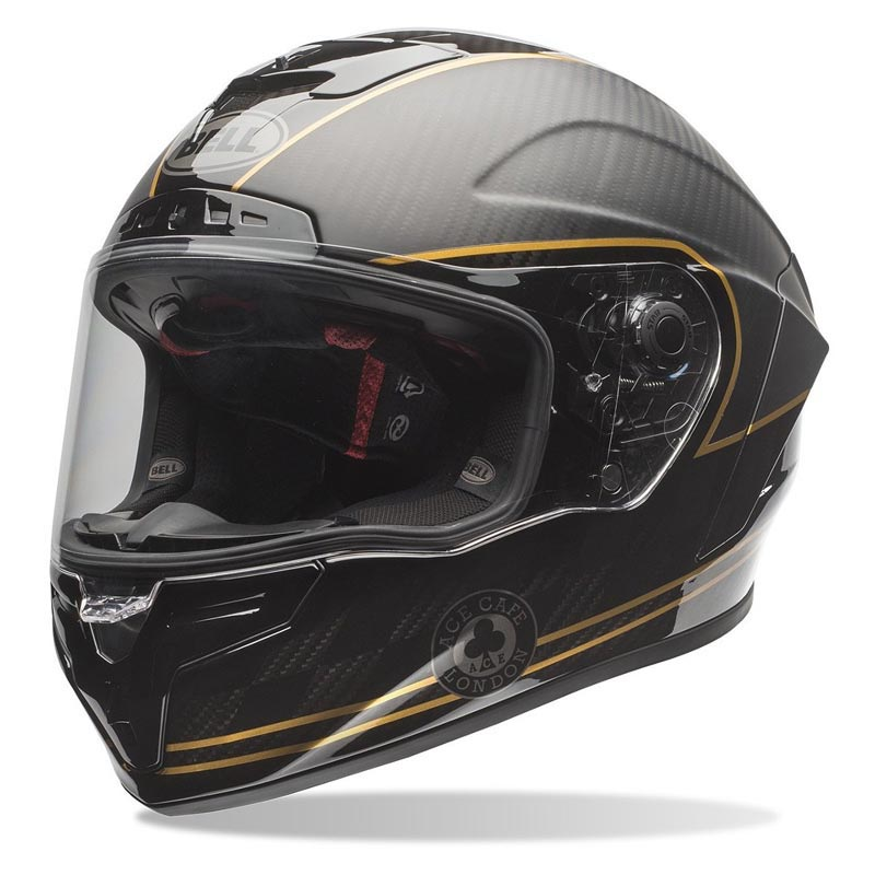 Bell Moto 3 >> Casque Bell Race Star Ace Cafe speed check, intégral moto