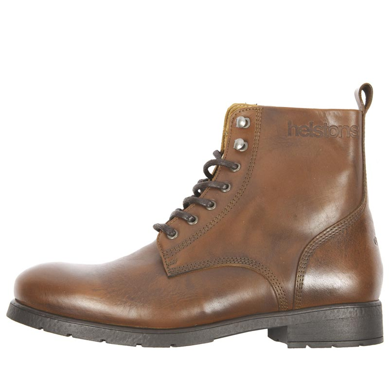 ce moto Helstons Bottes ville cuir City chaussures tan vintage XqS8axSw
