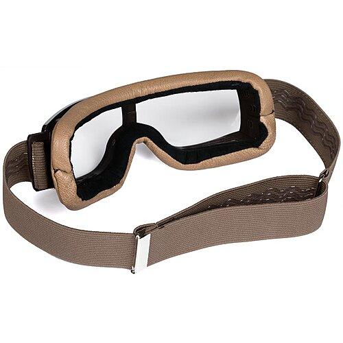 Lunettes Aviator Goggle T2 Sable, lunettes moto vintage