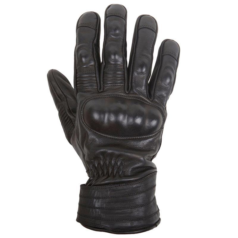 gants moto hiver helstons brace cuir noir vintage coqu s. Black Bedroom Furniture Sets. Home Design Ideas