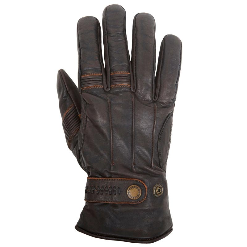 gants moto vintage helstons brod hiver cuir pull up marron. Black Bedroom Furniture Sets. Home Design Ideas