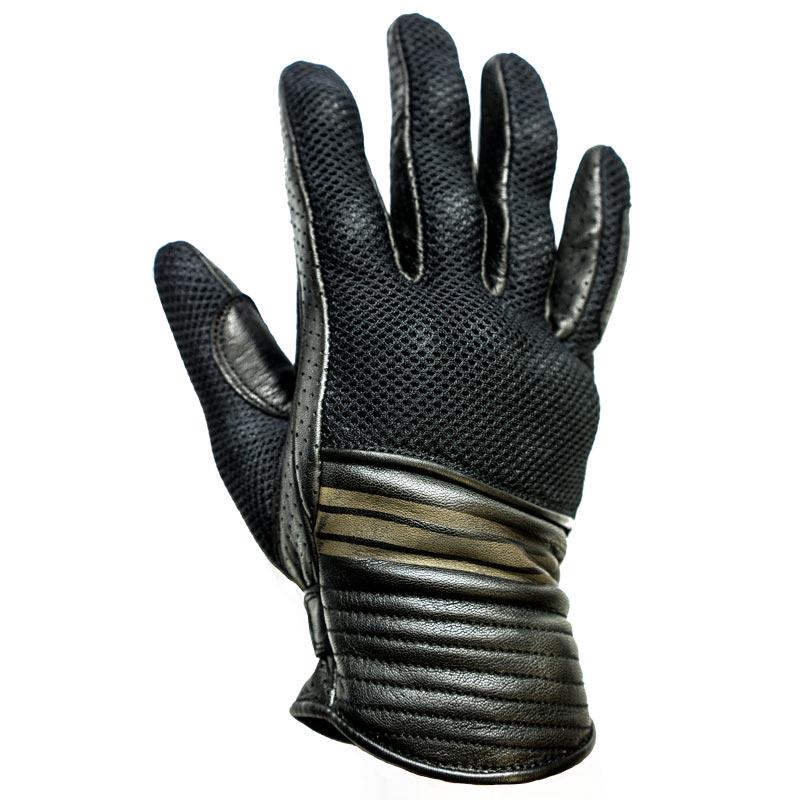 gants moto vintage helstons corporate t cuir mesh noir. Black Bedroom Furniture Sets. Home Design Ideas