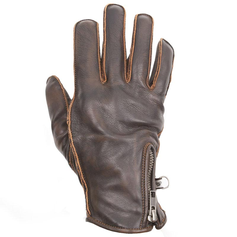 gants moto t helstons preston cuir marron vintage biker. Black Bedroom Furniture Sets. Home Design Ideas