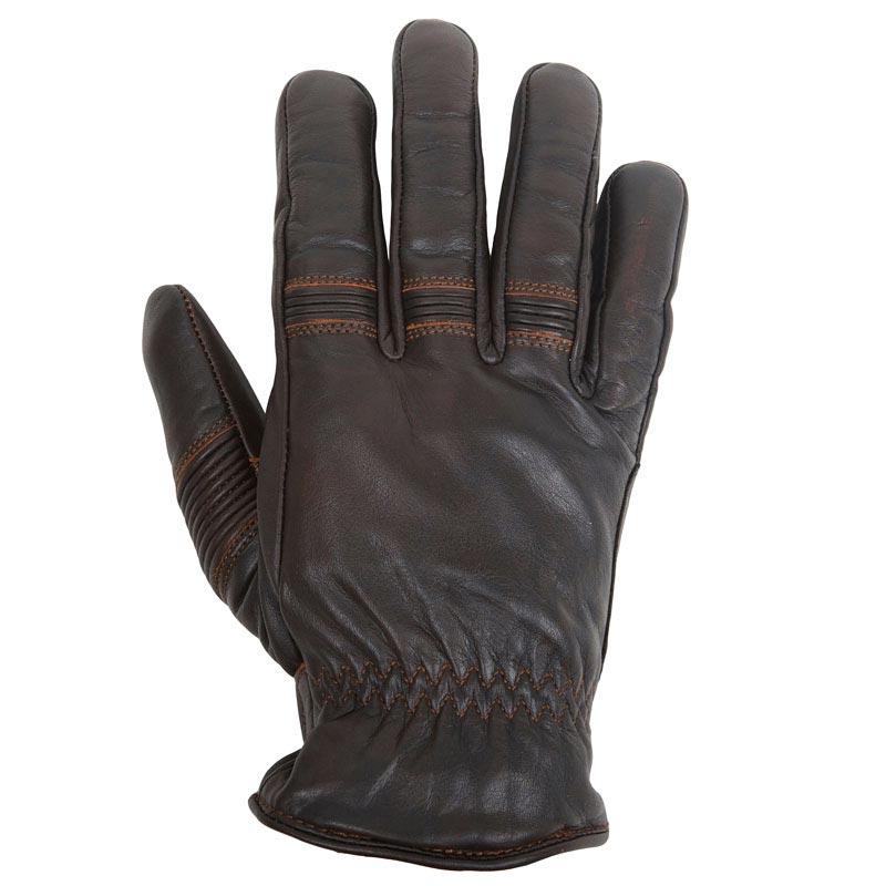 gants moto vintage helstons velvet hiver cuir pull up marron. Black Bedroom Furniture Sets. Home Design Ideas