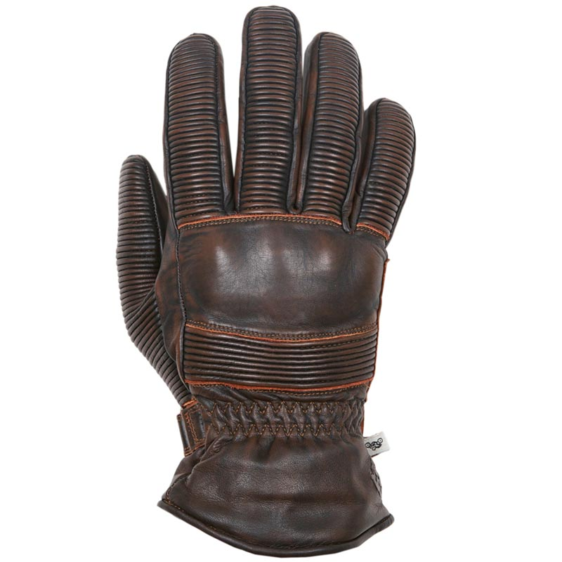 gants moto hiver helstons tornado cuir marron vintage homologue. Black Bedroom Furniture Sets. Home Design Ideas